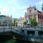 Ljubljana at the Triple Bridge