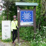Liza at the Italy/Slovenia border