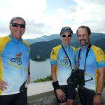 John, Liza, Robert atop Bled Castle
