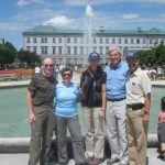 With the Guralnicks and John at the Mirabell Gardens