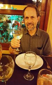 Sampling Torrontés wine, Salta
