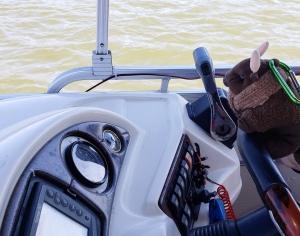 I'm on a boat! On Big Bear Lake