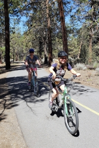 Mo and Luci on the Alpine Pedal Path