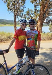 Liza and Robert cycled too!