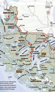 Southern Patagonia map
