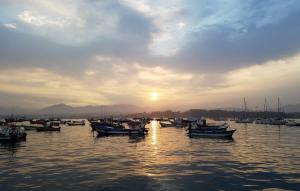 Quintero harbor, sunrise