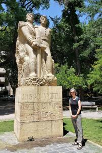 San Martin and O'Higgins statue, Plaza Chile, Mendoza