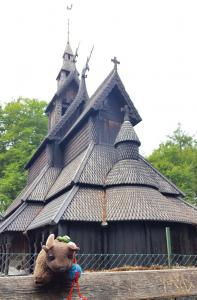 Fantoft Stave Church, outside Bergen, Norway