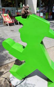 With a jaunty Ampelmann