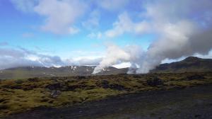 Geothermal fields near Hveragerði