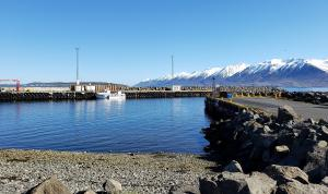 Ferry dock at Árskógssandur