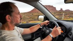 Robert driving!