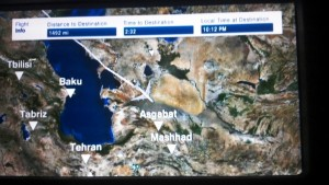 Flight path detail  - but - there's Iran!