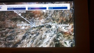 Flight path detail - there's Afghanistan!