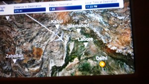 Flight path detail - Pakistan!