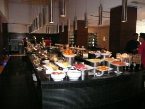 The buffet at the restaurant NYC, Radisson Blu Plaza