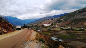 Driving out of Paro