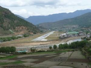 Paro airport view