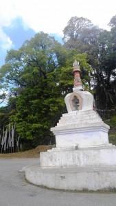 Stupa (Chorten) atop a pass