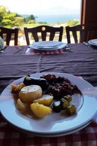 At Rancho Espantapajaros German restaurant