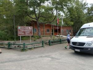 Van stop (we didn't ride up) at 7 km