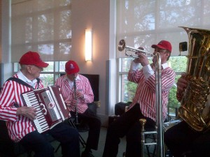 Polka band at the law school lunch