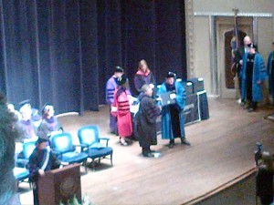 Richard getting his diploma