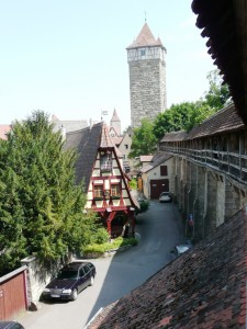 Rothenburg, along the old walls