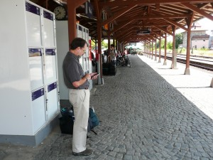 Rothenburg, waiting for the train