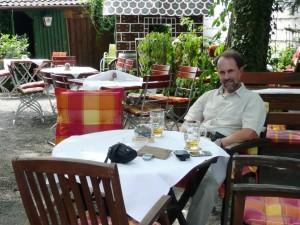Biergarten at hotel, Lohr am Main