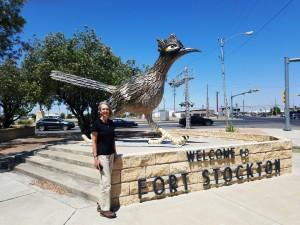 Liza with Paisano Pete, Ft Stockton TX