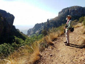 Liza on the trail, Big Bend NP