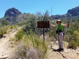 Liza on the trail