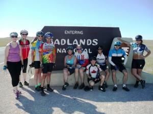 The group at Badlands NP