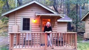 Liza at the cabin, State Game Lodge