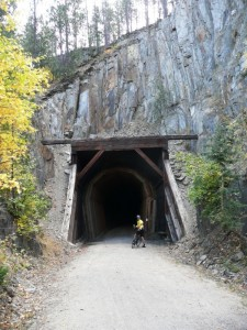 Many cool tunnels on the Mickelson Trail