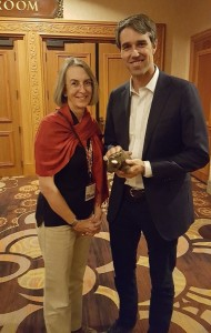 Me with Beto O'Rourke, congressman from TX