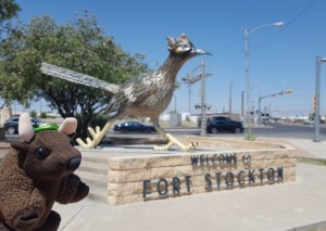 Me with Paisano Pete, Ft Stockton, TX