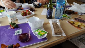 Preferente class came with food and wine