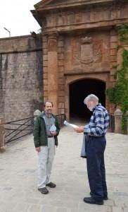 Robert and Jerry at Montjuïc Castle