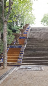 Pretty tiled steps