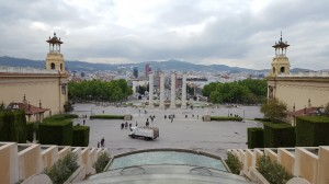 Looking down to the Plaça d'Espanya