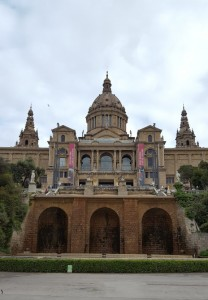 Looking up at the Catalan Art Museum