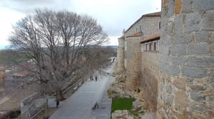 �vila, atop the wall