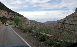 On the road from Cloudcroft to Alamogordo NM