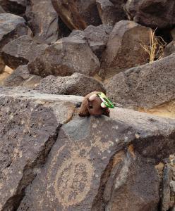 Piedras Marcadas (open!), Petroglyph