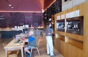 Wine tasting at Wines of Portugal, Praça do Comércio
