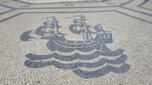 Famous mosaic sidewalks in Lisbon
