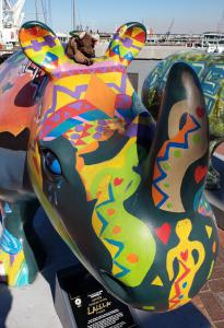 Hippo street art