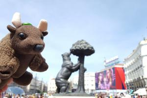 Puerto del Sol, Madrid, with the Bear and Madroño Tree statue